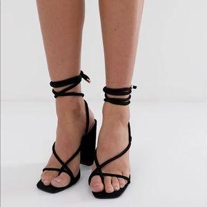 Public Desire Betty Tie Ankle Heels